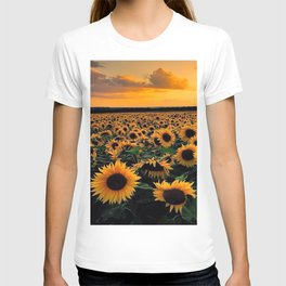Sunset flowers T-shirt