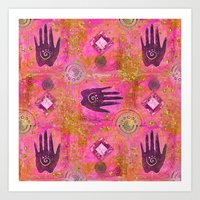 hands Art Prints featuring Hands by LebensART