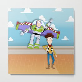 Buzz and Woody Metal Print