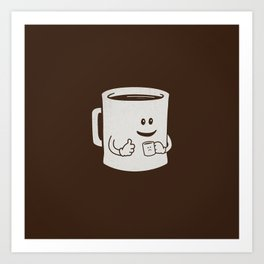 Mugged. Art Print