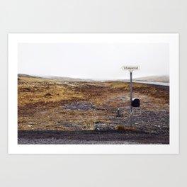 Post box, Iceland Art Print
