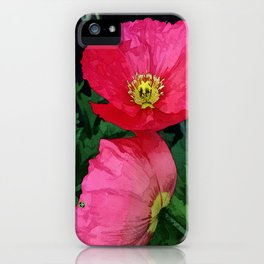 Poppies Three iPhone Case