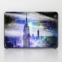 new york skyline iPad Cases featuring New York Skyline by haroulita