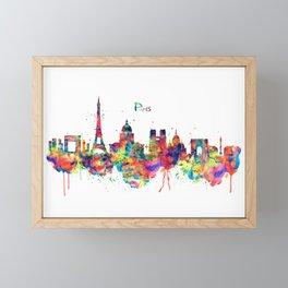 Paris Skyline Silhouette Framed Mini Art Print