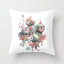 The Crowd 2 Throw Pillow