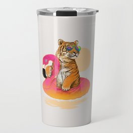 Chillin (Flamingo Tiger) Travel Mug