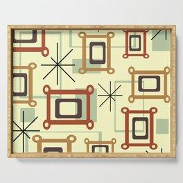 Mid Century Modern Geometric Art Serving Tray