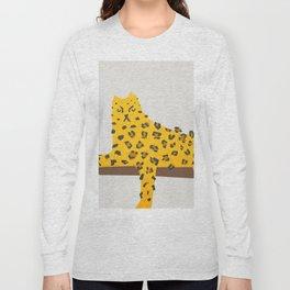 Leopard Lazy Long Sleeve T-shirt