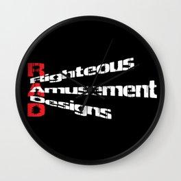 RaD Slanted Logo Wall Clock