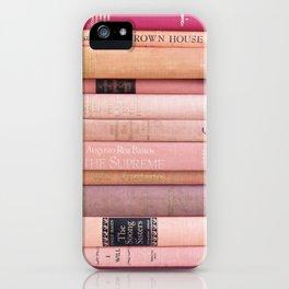 Vintage Pink Stacks iPhone Case