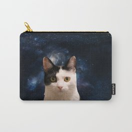 black and white galaxy kitty Carry-All Pouch