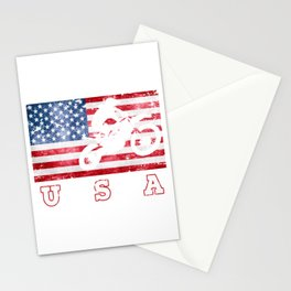 USA Motocross - Flag of America Stationery Cards