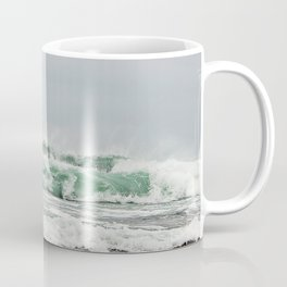 Explosive Green Surf of the St-Lawrence Coffee Mug