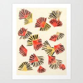 Starburst in Flame Art Print