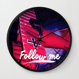 Follow me, Sigueme, suis moi, Volg Mij, Forge Mir Wall Clock