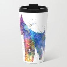 Giant Schnauzer 01in watercolor Travel Mug