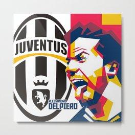 Del Piero in WPAP Pop Art Metal Print