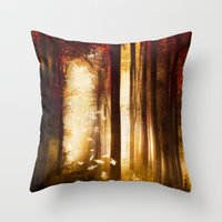 dreams Throw Pillows featuring Dreams by Viviana Gonzalez