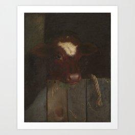 1869c The Family Cow oil on canvas 51 x 41 cm Art Print