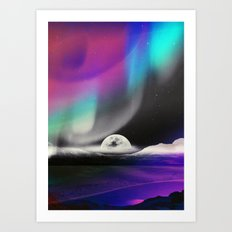 Moon After birth Art Print