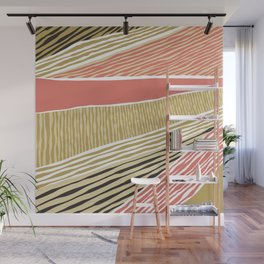 Modern irregular Stripes 05 Wall Mural