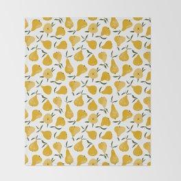 Yellow pear Throw Blanket