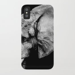Elephant Portrait BW iPhone Case