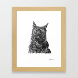 Calm Dog Framed Art Print