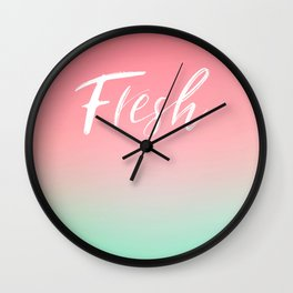 Fresh Watermelon Vibes #typography #Summervibes Wall Clock