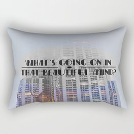 What's Going On In That Beautiful Mind? Rectangular Pillow