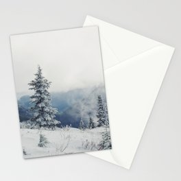 The snowfall is silent. Stationery Cards