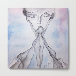 women spiritual beauty Metal Print