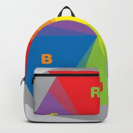 Color wheel by Dennis Weber / Shreddy Studio with special clock version Backpack