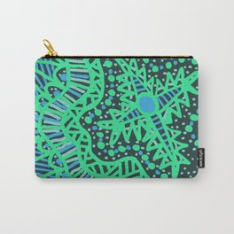 Doodle 16 Blue Carry-All Pouch