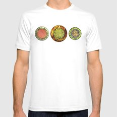 Food Mix Tris MEDIUM White Mens Fitted Tee