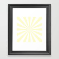 Starburst (Cream/White) Framed Art Print
