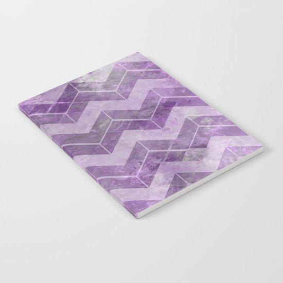 Chevron pattern, watercolors purple Notebook