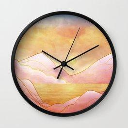 landscape in pastels Wall Clock