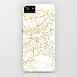 EDINBURGH SCOTLAND CITY STREET MAP ART iPhone Case