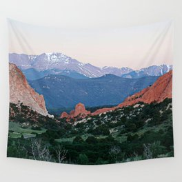 Sunrise at Garden of the Gods and Pikes Peak Wall Tapestry