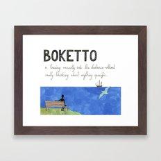 Boketto Framed Art Print