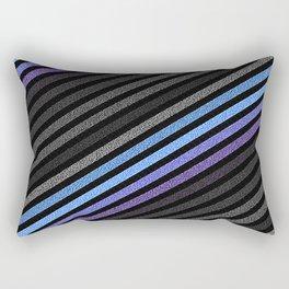 stripES Slate Gray Blue Periwinkle Pixels Rectangular Pillow