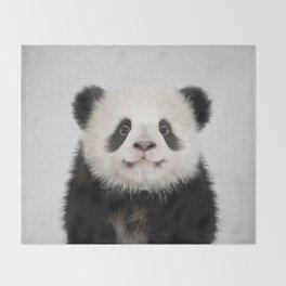 Panda Bear - Colorful Throw Blanket