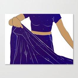 Sari of Universe Canvas Print
