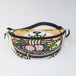 Kawaii Ramen Cute Anime Dog Corgi Japanese Noodles Fanny Pack