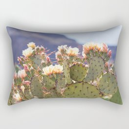 Prickly Pear Cactus Blooms, II Rectangular Pillow