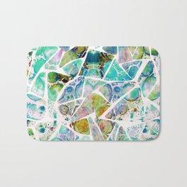 Marbled Earth Blue Bath Mat