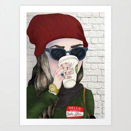 Hello My Name Is: Broke Bitch Art Print