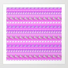 Unicorn Repeating Pattern Art Print