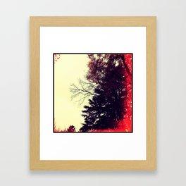 exposed sky Framed Art Print